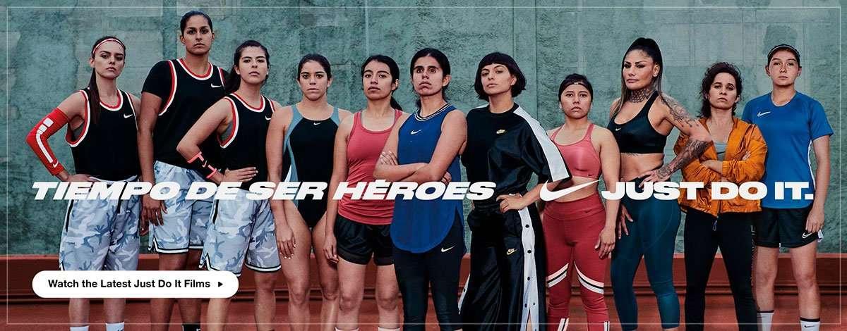 Nike Spanish website banner