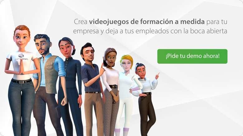 Personajes Gamelearn Editor para empresas