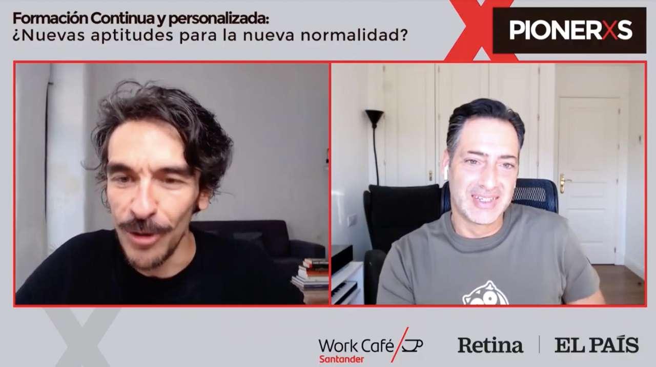 Ibrahim Jabary, P.-D.G. de Gamelearn, participe à la rencontre digitale Pioneros, organisée par El País Retina