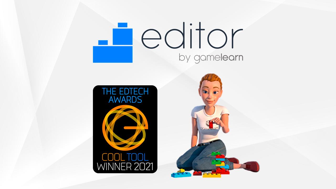 Editor de Gamelearn, meilleur outil de création aux EdTech Awards 2021