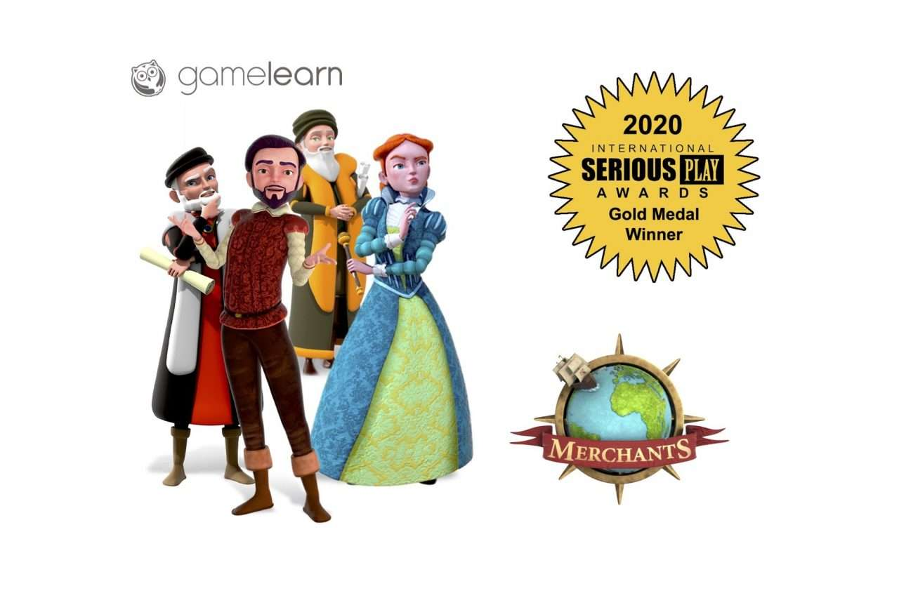 Gamelearn's serious game Merchants wins gold at the International Serious Play Awards 2020